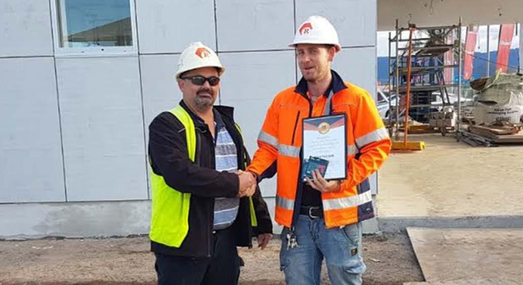 June Safety Award Winner – Alex Tocock