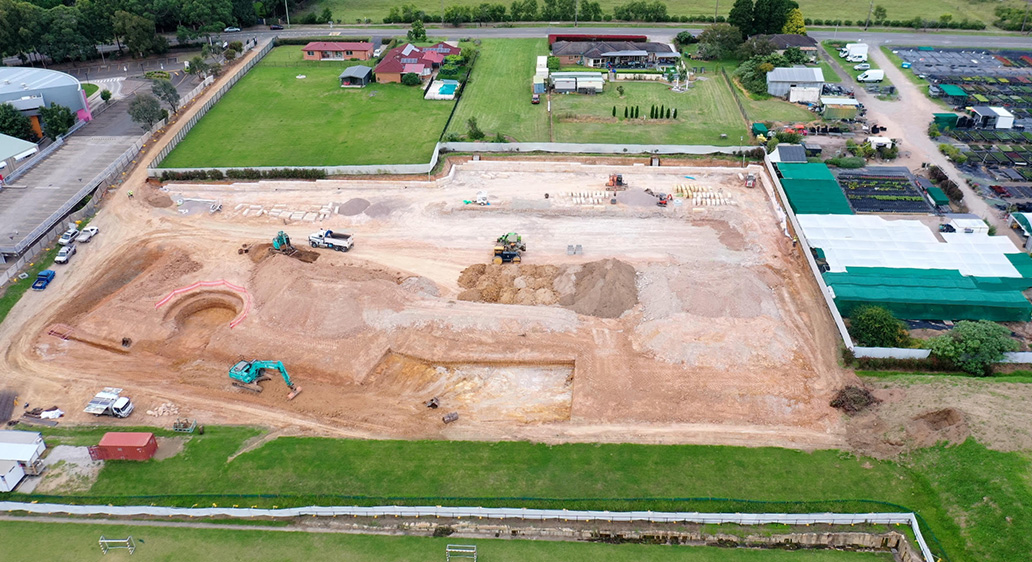 Groundworks are well underway at New Hope School – Pacific Hills Grammar School, Dural NSW